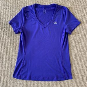 Women's Blue Adidas Climalite Athletic Shirt - M